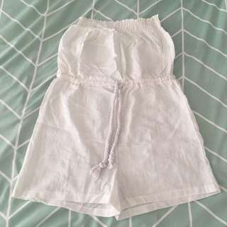 White Playsuit / Romper