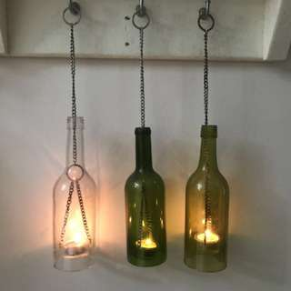3 hurricane lamps for sale, $5 each