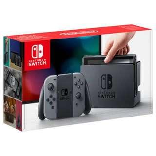 BNIB Nintendo Switch - grey joy-con