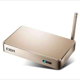 IDER TV BOX  16gb 八核高清機頂盒 wifi 可自行安裝apps