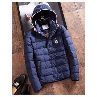 秋冬經典新款Moncler連帽羽絨男款保暖外套 蒙口加厚加棉羽絨夾克外套 冬天必備的羽絨外套