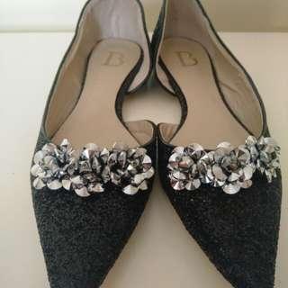 Sepatu flat sequins berrybenka