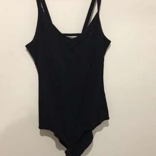 Black Bardot bodysuit