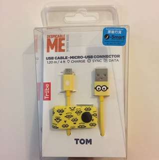 Despicable Me 叉電線 Minions Android Micro USB Cable
