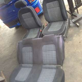 seat depan belakang checkers kelisa l7