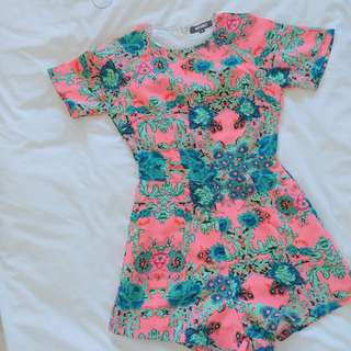 Missguided Patterned Playsuit