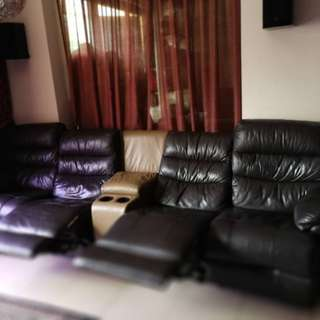"Leather Recliner For Sale ""as it is"""