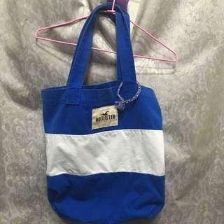 Hollister 藍白包包