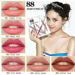 88 HOLIDAY LIP PENCIL SET / EITY EIGHT / PENCIL PEWARNA BIBIR KOREA