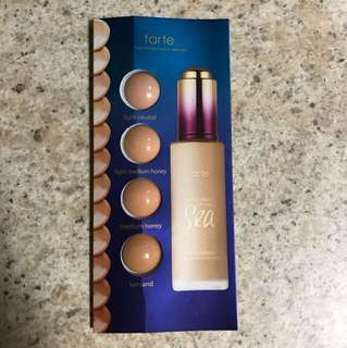 Tarte Rainforest of The Sea Water Foundation Testers
