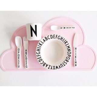 全新北歐風格雲朵寶寶餐墊粉色#我的家飾可超取