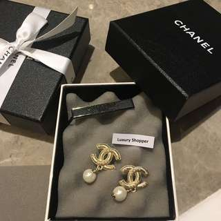 Chanel Earring With Pearl