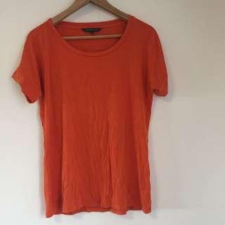 Orange sportscraft soft jersey shirt size medium