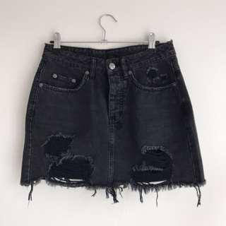 Ksubi Mini Moss Denim Skirt