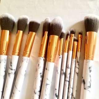 11pcs Marble Texture Makeup Brushes