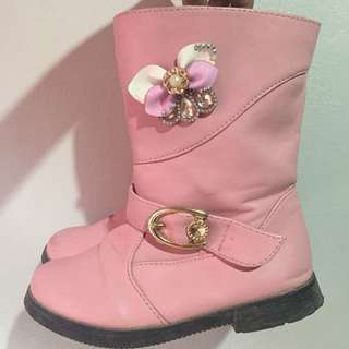 Pink boots (preloved)