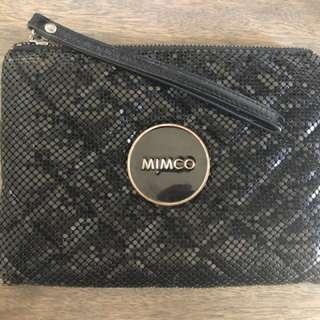Mimco Medium Black Mesh Pouch