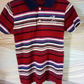 Cotton red polo shirt