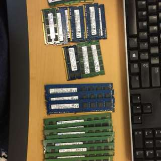 Laptop/Desktop RAM 4GB/8GB cards