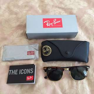 Ray Ban Clubmaster Tortoise Gold