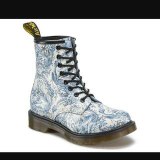 Doc Martens Size 38- Blue on White