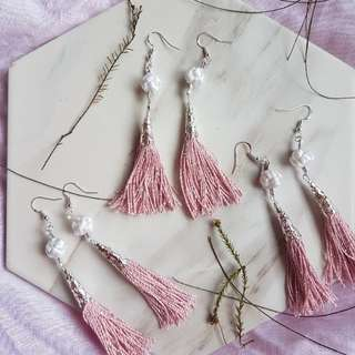 925 silver nude tassels mandarin knotted earrings