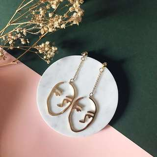 (Backorder) Monki Faced Earrings
