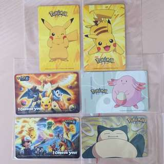 Limited Edition brand new Pokemon And Pikachu ezlink Cards For Sale.