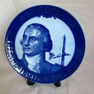 丹麥瓷。喬治華盛頓。#1046。德國限量發行
