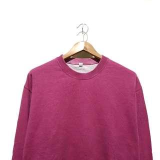 Sweater crewneck Uniqlo Pink