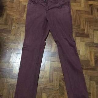 Cotton On Maroon Jeans