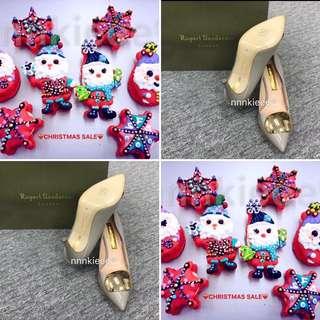 購自英國100% Authentic & New Rupert Sanderson Pebble heels (灰系:37;Nude 系:38)
