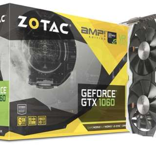 Zotac GTX 1060 6GB Amp Edition with Backplate