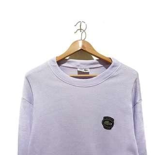 Sweater crewneck lacoste knitwear soft purple