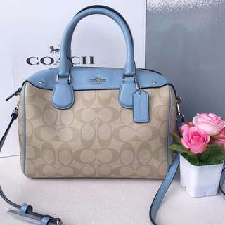 Coach Mini Bennett Signature Canvas