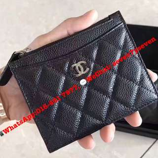 CHANEL Zip Card Holder Caviar Leather [READY STOCK]