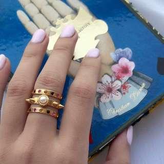 🇫🇷Maria Francesca Pepe 3bands ring