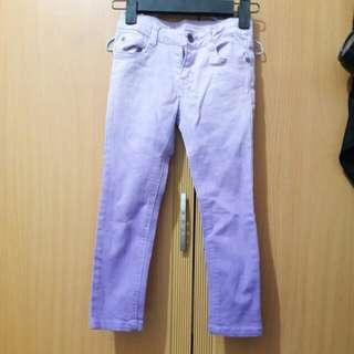 🚚 女童牛仔褲 漸層紫