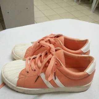 Kicks Orange Rubber Shoes Preloved