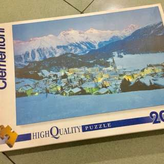 CLEMENTONI 2000 PIECES HIGH QUALITY PUZZLE - ST MORITZ IN NIGHT