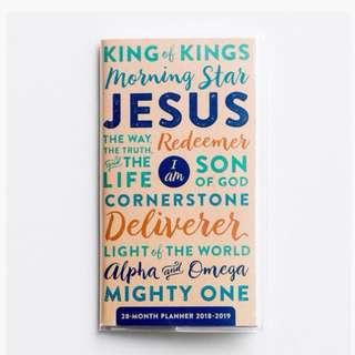 Names of Jesus Pocket planner -2018/9