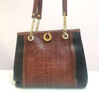 BALLY Vintage Woven Shoulder Bag
