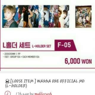 Looking for wanna one official md poster (ong)