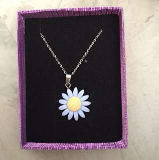 Sunflower Necklace with Box