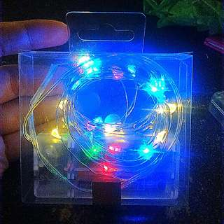 3 meters multicolored fairy lights battery operated