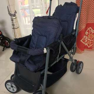 Twin stroller for sale!