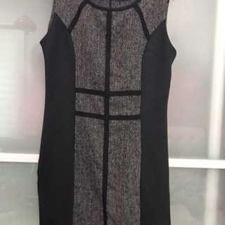 Dressing Paula formal thin straight cut grey dress