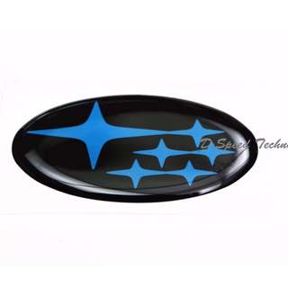 Subaru斯巴魯 WRX STI 方向盤標 (黑底藍星)