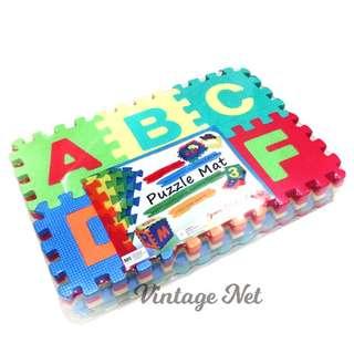36PCS Eva Foam Baby Kids Play & Learn Alphabet Number Multicolor Jigsaw Puzzle Mat (Large)