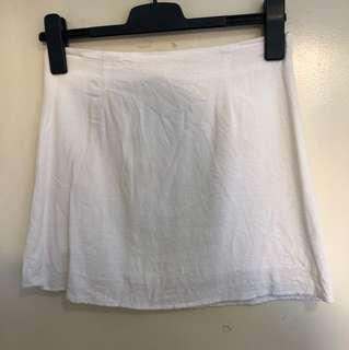 White linen a line skirt size 8